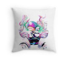 Chibi Ethereal DJ Sona Throw Pillow