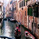 Man on Gondola by abfabphoto