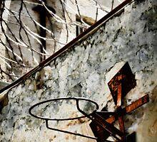 Barb wire basketball by Josh Wayn