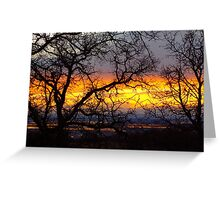 Chico Sunset Greeting Card
