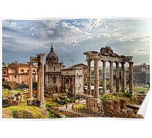 Ancient Roman Forum Ruins - Impressions Of Rome Poster