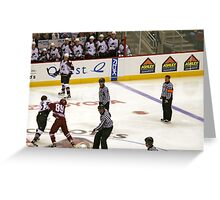 Avalanche vs Coyotes 12-31-05 Greeting Card