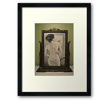 Summer's Muse in Vintage Frame Framed Print