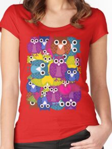 owlish T-shirt  Women's Fitted Scoop T-Shirt
