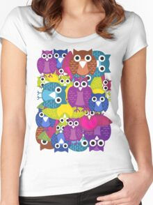 owlish T-shirt  Women's Fitted Scoop T-Shirt
