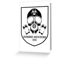 Zombie Hunters Inc. - Black Greeting Card