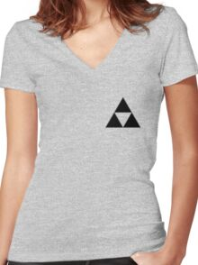 Triforce, The Legend of Zelda Women's Fitted V-Neck T-Shirt