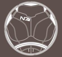 N7 Chestplate - Femshep Multicolour by Asarimaniac