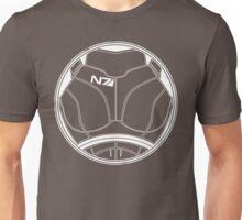 N7 Chestplate - Femshep Multicolour Unisex T-Shirt