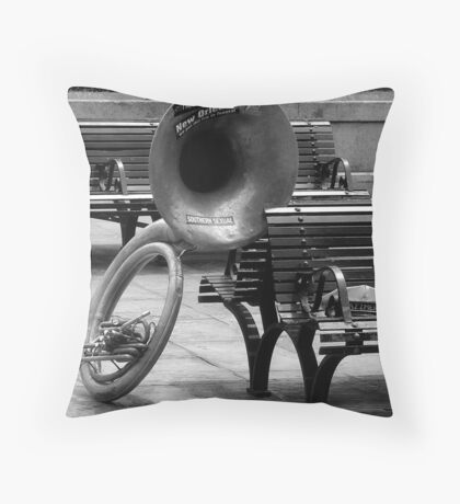 Lonely Tuba Throw Pillow
