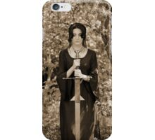 Morgana and Excalibur III in sepia iPhone Case/Skin