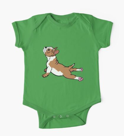 Boston Bull Terrier Puppy Brown One Piece - Short Sleeve