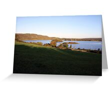 Inchiquin lake morning view Greeting Card