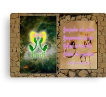 Pisces and Horoscope Canvas Print