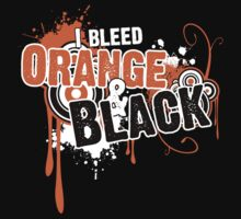 I Bleed Orange and Black T-Shirt