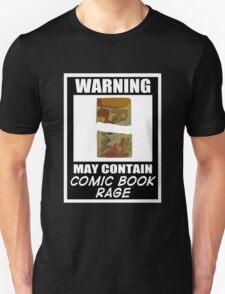 Warning May Contain Comic Book Rage (T-Shirt & Sticker )  T-Shirt
