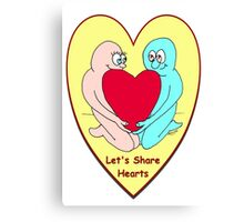 Let's Share Hearts Canvas Print