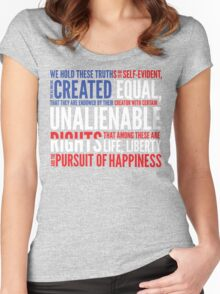 Declaration of Independence Women's Fitted Scoop T-Shirt