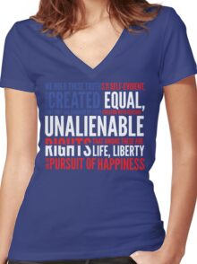 Declaration of Independence Women's Fitted V-Neck T-Shirt