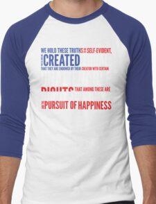 Declaration of Independence Men's Baseball ¾ T-Shirt