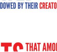 Declaration of Independence Sticker