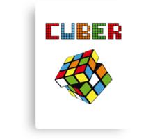 Rubik cube True colors pattern Canvas Print
