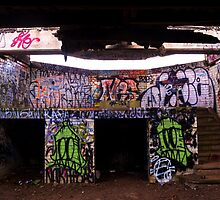 An Old Abandoned Graffitied Building by Reese Ferrier