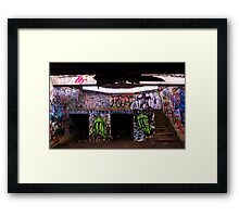 An Old Abandoned Graffitied Building Framed Print