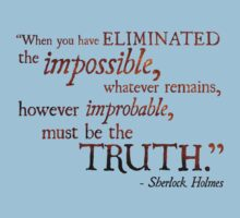 Sherlock Holmes - Eliminate the Impossible Kids Clothes
