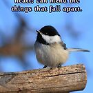 Black-Capped Chickedee Inspirational by KatsEye