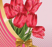 Greeting card with tulips by AnnArtshock