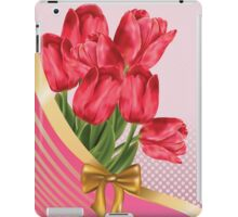 Greeting card with tulips iPad Case/Skin