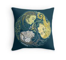 Celtic Maiden Mother Crone Throw Pillow