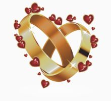 Wedding rings and hearts 2 Kids Clothes