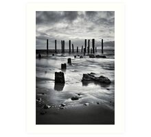 Port Willunga (Black and White) Art Print