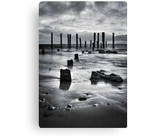 Port Willunga (Black and White) Canvas Print