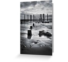 Port Willunga (Black and White) Greeting Card