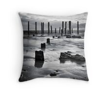 Port Willunga (Black and White) Throw Pillow