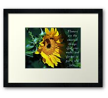 Beautiful Shade of Yellow Framed Print