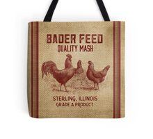 Burlap Vintage Like Chicken Feed Sack Tote Bag