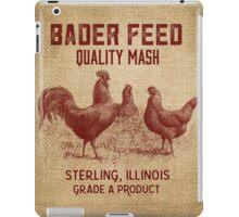 Burlap Vintage Like Chicken Feed Sack iPad Case/Skin