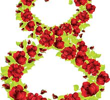 Number 8 made from flowers by AnnArtshock