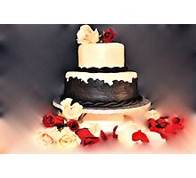 wedding cake Photographic Print