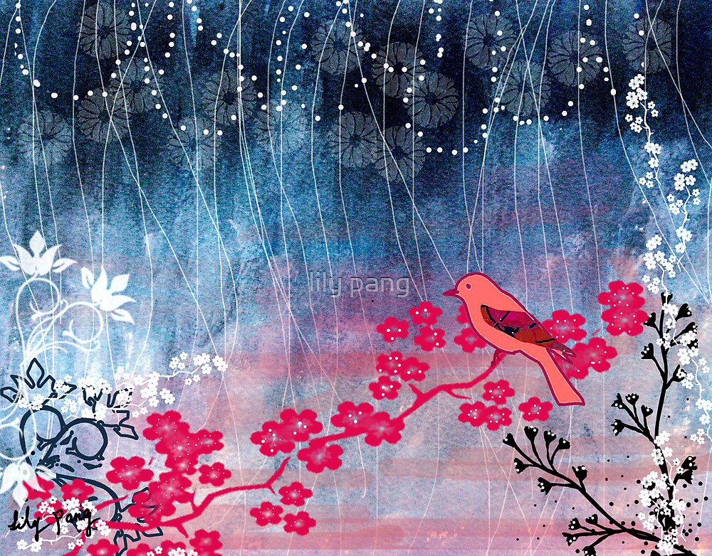 Pink Bird by lily pang
