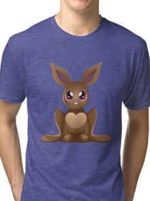 Brown rabbit 2 Tri-blend T-Shirt