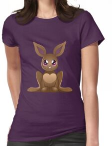 Brown rabbit 2 Womens Fitted T-Shirt