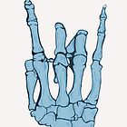 Skeleton hand | Blue by jellyelly