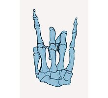 Skeleton hand | Blue Photographic Print