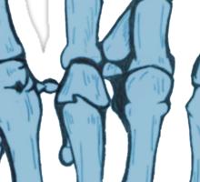 Skeleton hand | Blue Sticker