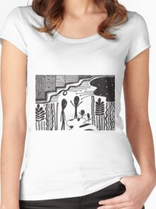 creatures from another planet Women's Fitted Scoop T-Shirt